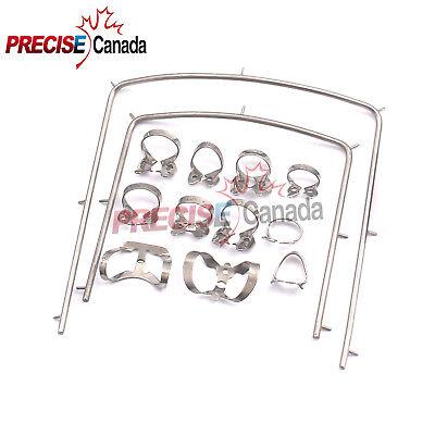16 Pieces Set Basic Rubber Dam Kit Dental Instruments