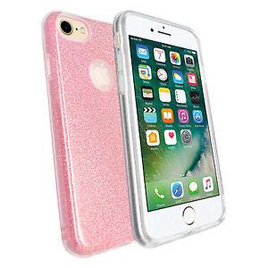 Apple-iPhone-7-Ultra-SOTTILE-ROSA-GLITTER-Metallica-Morbida-Gel-TPU-SILICONE