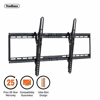 "VonHaus 32-65"" Tilt TV Wall Mount Bracket with Ultra Slim Design & 75kg Capacity"