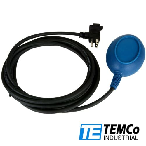 TEMCo Float Switch for Sump Pump & Water Level Empty Function Control 13ft Cord
