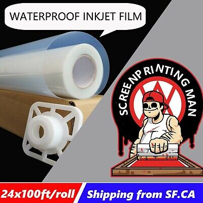 24x100ft2 Rollspremium Waterproof Inkjet Milky Transparency Film Paper
