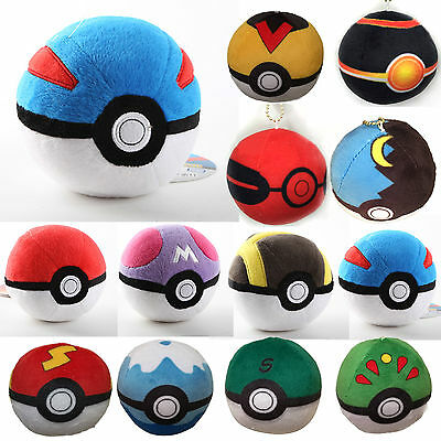 Anime Pocket Monster Pokemon Ball Plushie Toy Pokeball Soft Doll Kids Bday  Gift