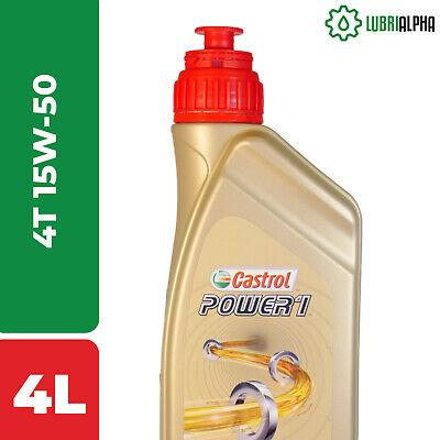 Olio Motore Castrol POWER 1 4T 15W50 - 4 Tempi - 4 Litri