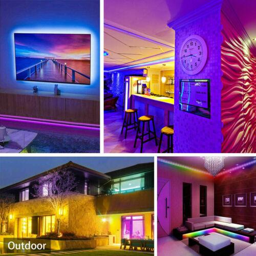 5M//10M//15M RGB LED Strip Light SMD Remote Fairy Lamp Bar Disco TV String Lights