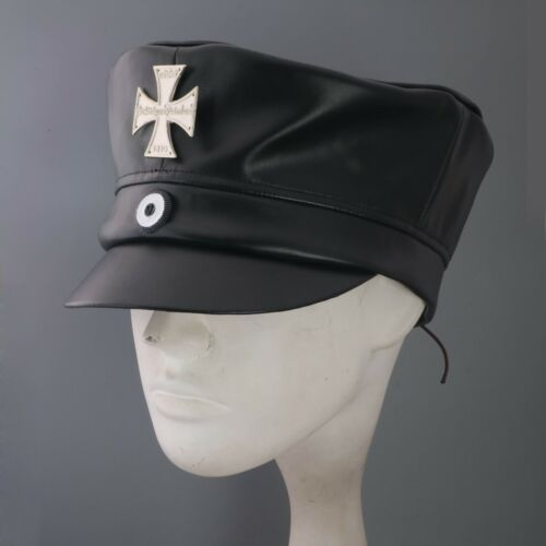 Replica  Very Rare Ww1 German Prussian Wachstuchmütze Landsturm Cap