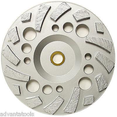 7 Premium Turbo Diamond Grinding Cup Wheel For Concrete With 78 - 58 Arbor