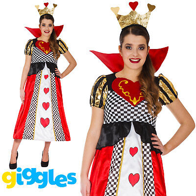 Queen of Hearts Costume Fairytale Longer Womens Fancy Dress World Book Week Day - Costume Book