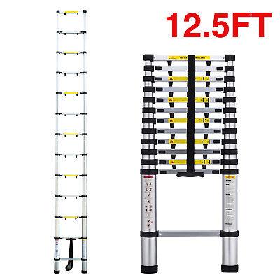 12.5 Telescopic Extension Aluminum Step Ladder Anti-pinch Folding Multi Purpose