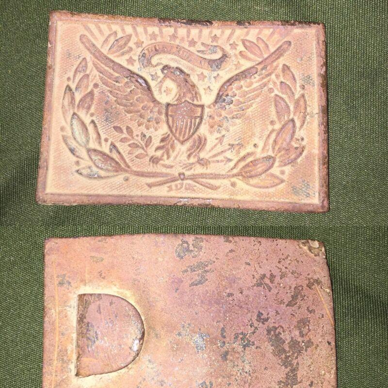 civil war original Union belt/strap buckle
