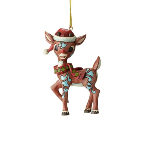 Rudolph Reindeer In Santa Hat Traditions Ornament Jim Shore Christmas