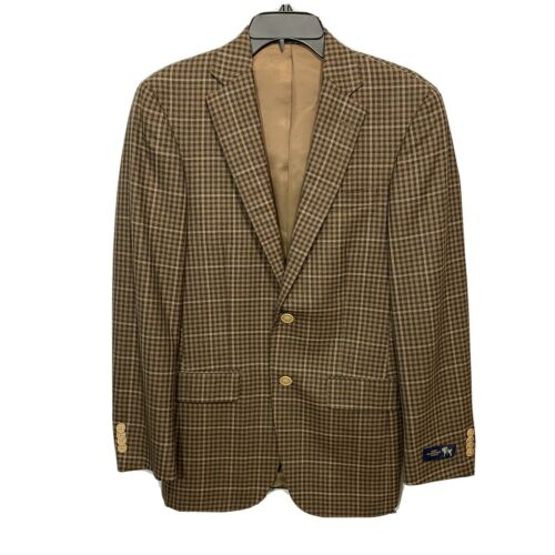 $650 Hart Schaffner Marx New York Wool Sport Coat 36R 36 Blazer Jacket Brown Clothing, Shoes & Accessories