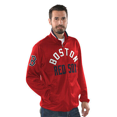 Red Sox Jackets - Boston Red Sox Men's G-III Sports Power Pitcher Full-Zip Track Jacket