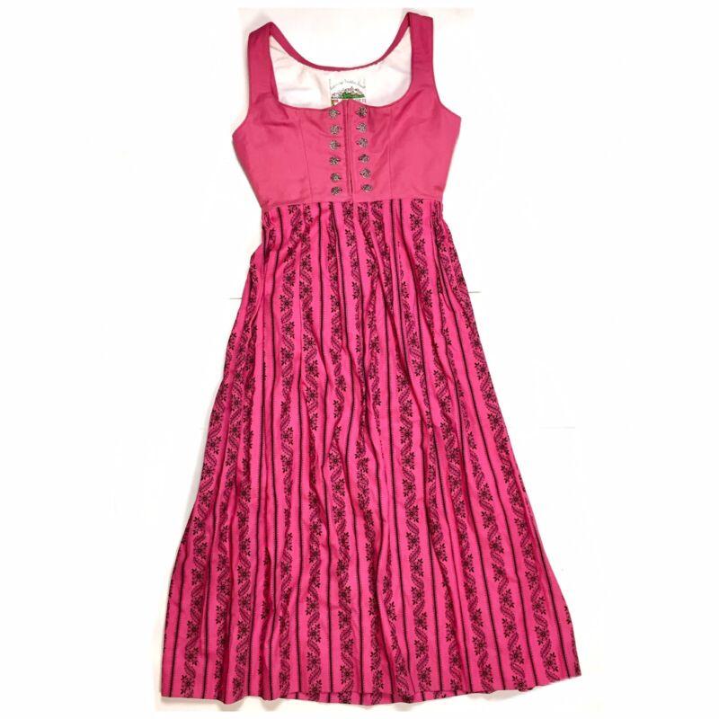 Ocktoberfest Pink Floral Long Dress Dirndl Salzburger Trachten Womens US 6 / 8