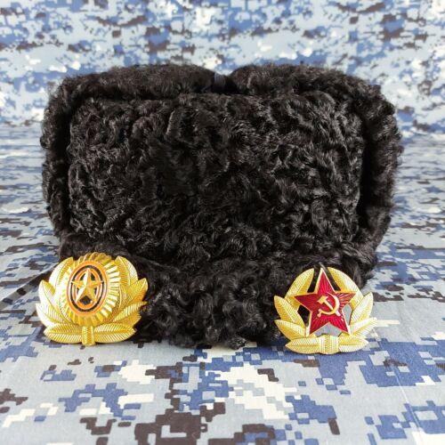 Soviet winter hat papakha GORKOM NARKOMOVSKAYA Cap of the main power of the USSR