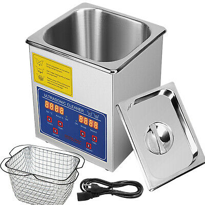 Vevor 2l Ultrasonic Cleaner 304 Industry Stainless Steel Jewely Cleaning Wtimer