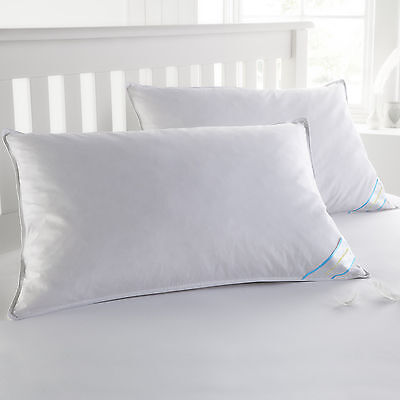 Sweet Home Collection USA Finished Queen Down & Feather Bed Pillows 2 Pack Bed Pillows