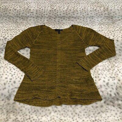 Eileen Fisher Sweater Size Small Petite Baby Alpaca Wool Blend Heather Mustard Baby Alpaca Blend