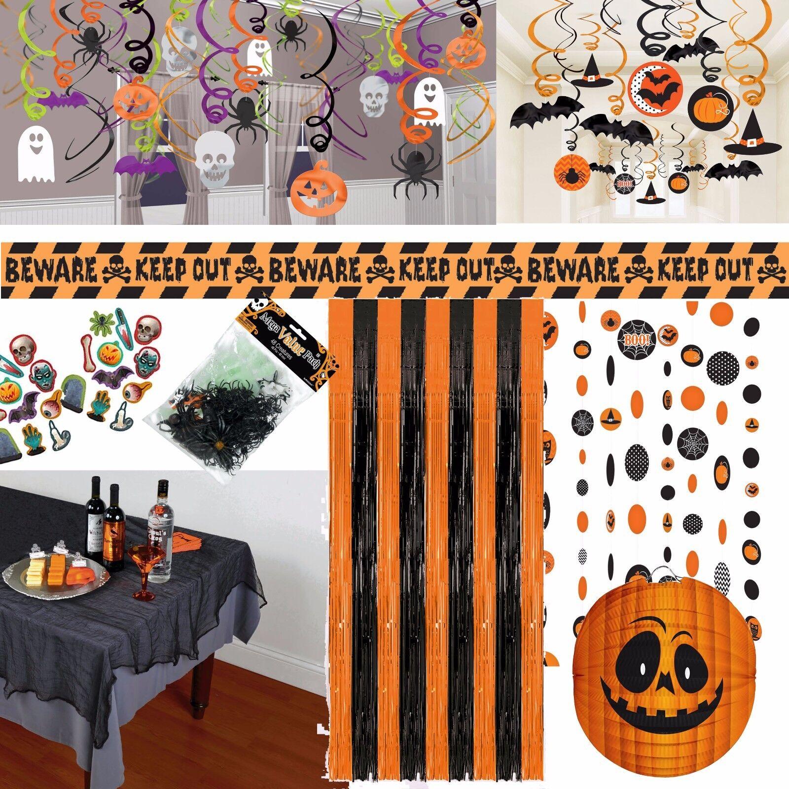 LUSTIGER KÜRBIS GRUSEL - Deko Tischdeko Horrordeko Halloween Horror Party Kinder