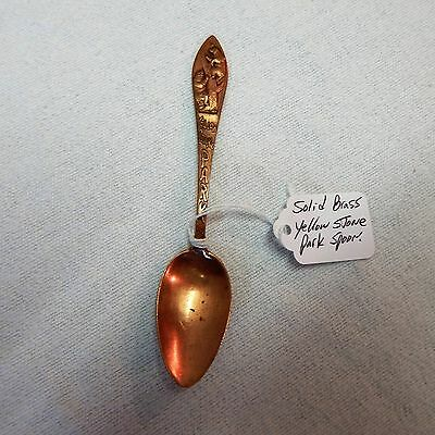 Vintage! Solid Copper Yellow Stone Park Spoon