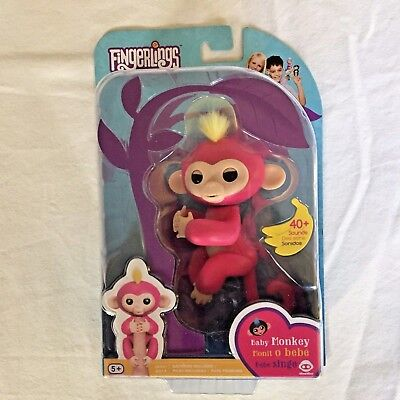 Fingerlings Bella Pink Interactive Baby Monkey Wowwee   New   Free Shipping