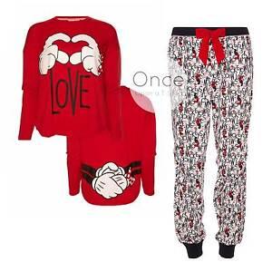 primark ladies disney mickey minnie mouse love pyjama. Black Bedroom Furniture Sets. Home Design Ideas