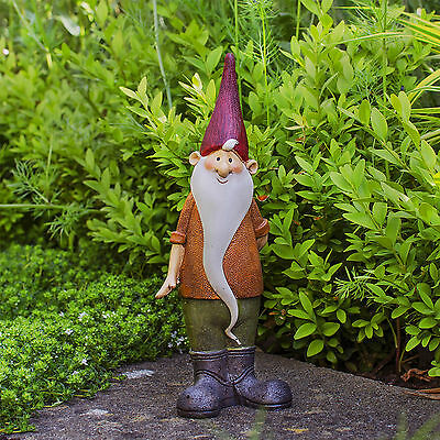 Gnome Ornament (Garden Gnome Magnus Traditional Cheerful Resin Statue Figurine Gnome Ornament)