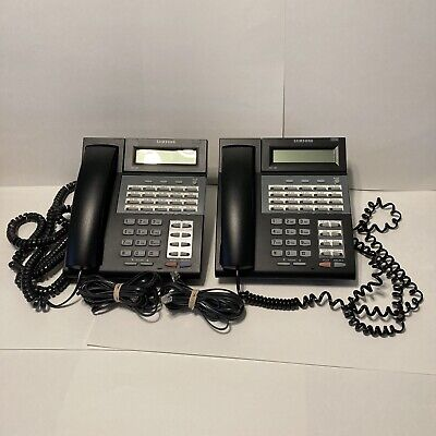 2x Samsung iDCS 28D Falcon 28 Button Charcoal Office Telephones