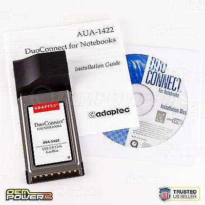 Adaptec AUA-1422 USB/IEEE 1394 FireWire CarBus Adapter Laptop PC Card PCMCIA NEW