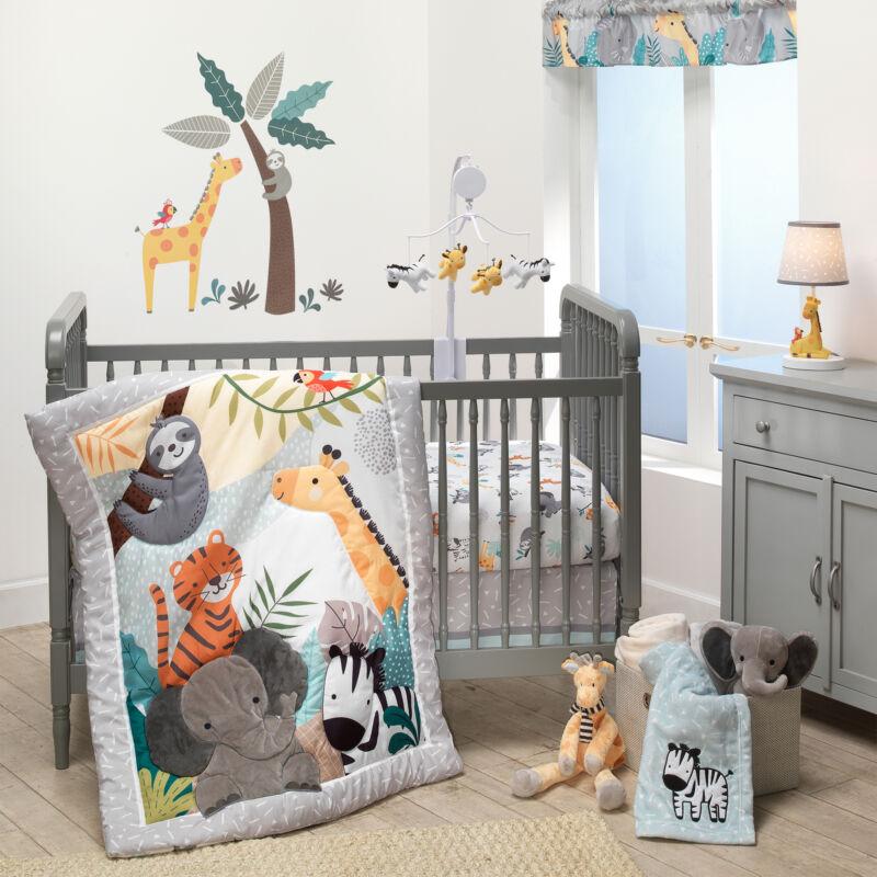 Bedtime Originals Mighty Jungle Animals 3-Piece Baby Nursery Crib Bedding Set