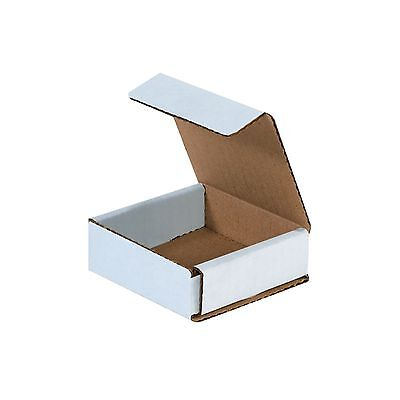 50 - 3x3x1 Small White Corrugated Cardboard Packaging Shipping Mailing Box Boxes