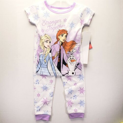 Girls Frozen 2 Pajamas 2T 3T 4T 5T NEW Stronger Together Anna Elsa