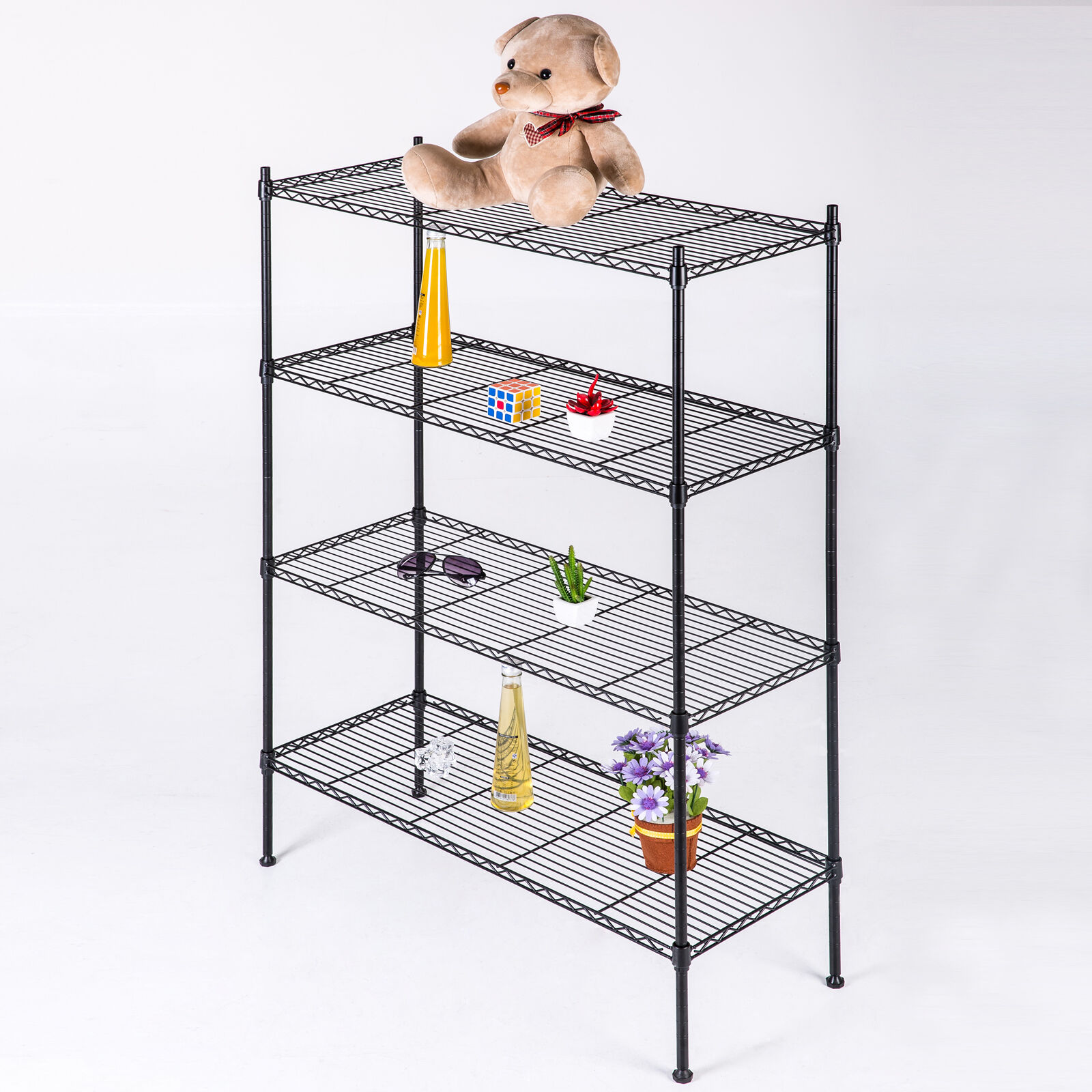 wire storage rack adjustable 4 tier 55 quot x36 quot x14 quot layer wire shelving rack 29332