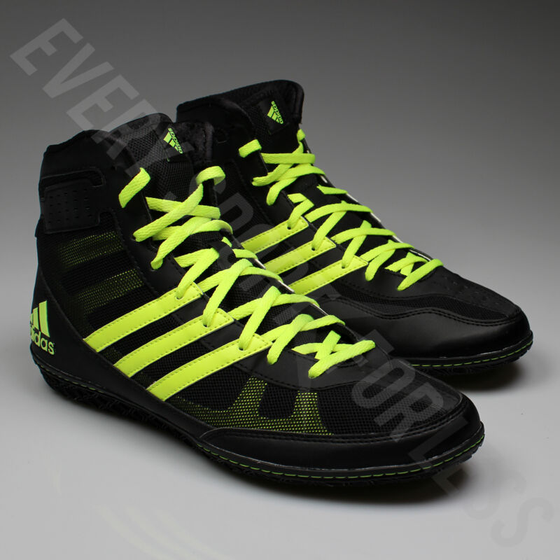 ADIDAS MAT WIZARD 3 Wrestling Shoes S77969 Black, Yellow (NEW) Lists @ $105