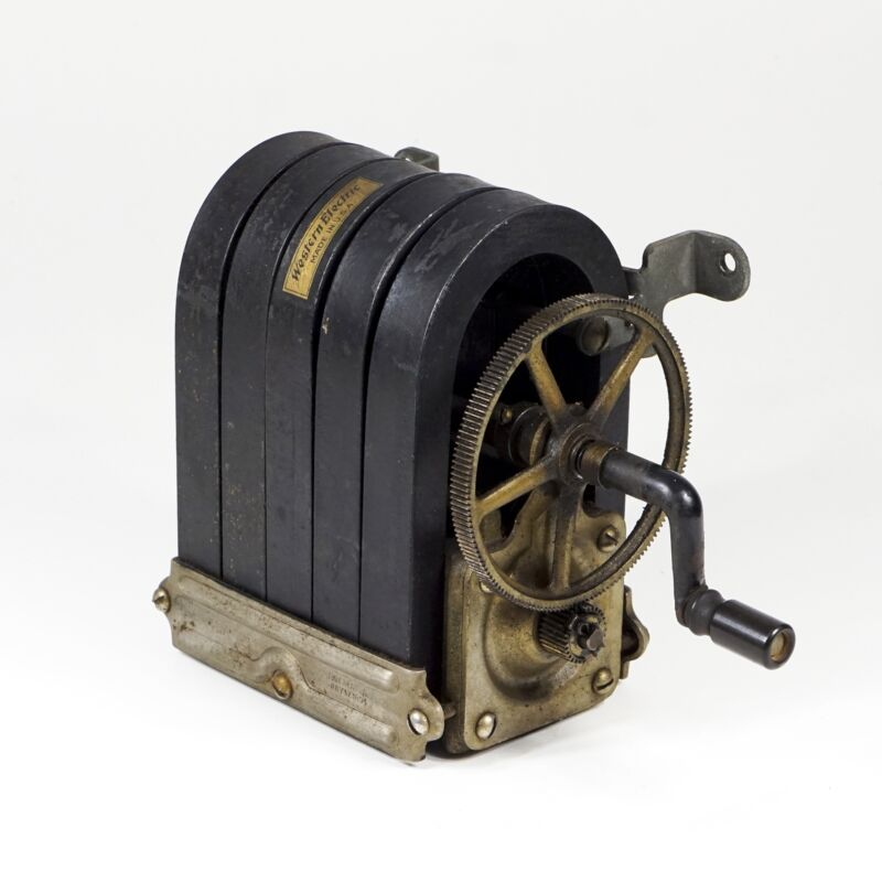 Western Electric 5 Bar Magneto Type 48A for Old Telephone Ringer Box, 1894