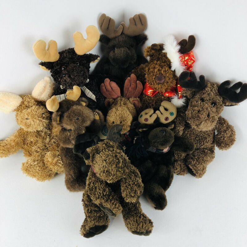 MOOSE PLUSH Toys Stuffed Animals Lot Of 9 Adorable!!!