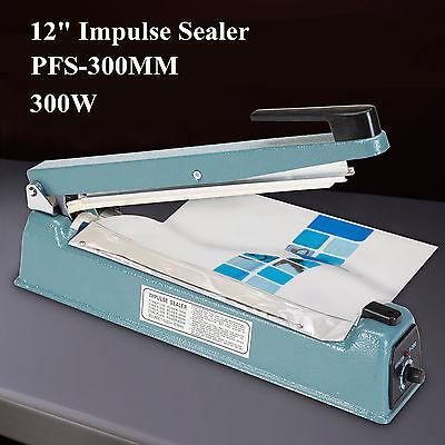 "12"" Impulse Manual Hand Sealer Heat Sealing Machine Poly Tubing Plastic Bag OHBU"