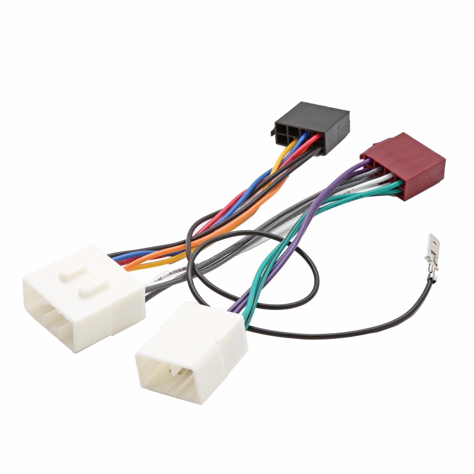Iso Wiring Harness Connector Adaptor Stereo Radio Lead Loom For 5 Wire Electrical Connectors Mazda Mx