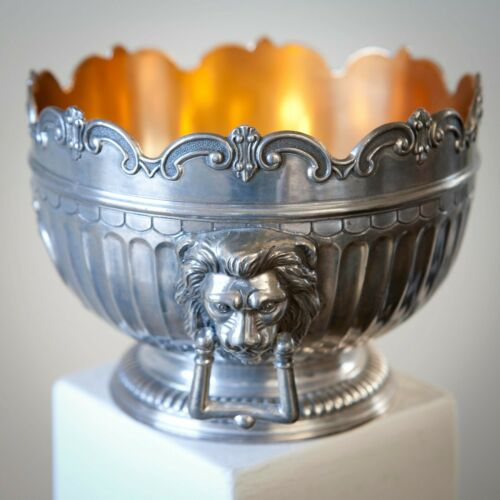 Vintage Corbell & Co. Silver Plated Bowl with Lion