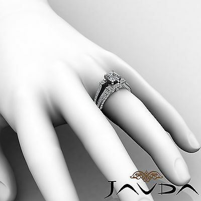 Vintage Split Shank Cushion Diamond Engagement Ring GIA Certified H VS2 2.2 Ct 4