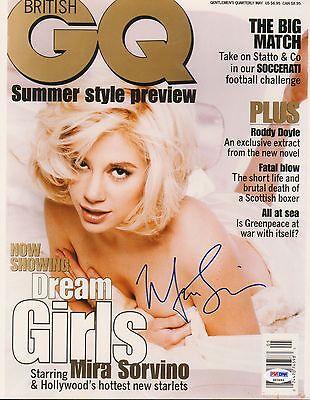 Mira Sorvino Signed 11X14 Photo Psa Dna Coa Autograph Autod Gq Magazine Cover