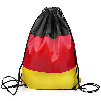 Euro Germany German Flag Drawstring Gymsac Football PE Hiking Camping Bag  (German Flag Bag)