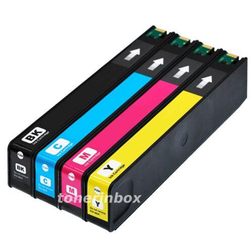 4PK 972A Ink Set For HP 972 PageWide Pro 377dn 377dw 452dw 477dw 552dw 577dw