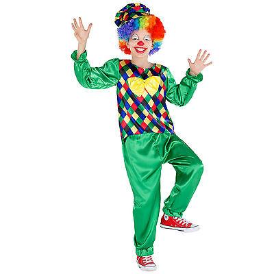 Jungenkostüm Clown Kinder Kostüm Fasching Karneval Harlekin Verkleidung Jungen (Jungen Clown Kostüme)