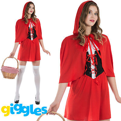 Red Riding Hood Outfit (Womens Red Riding Hood Costume Storybook World Book Day Week Fancy Dress)