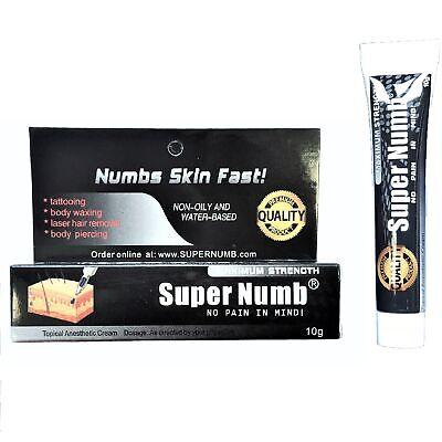 10g SUPER NUMB® Numbing Cream Skin Anesthetic Tattoo Piercing Waxing Laser (Numbing Cream Waxing)