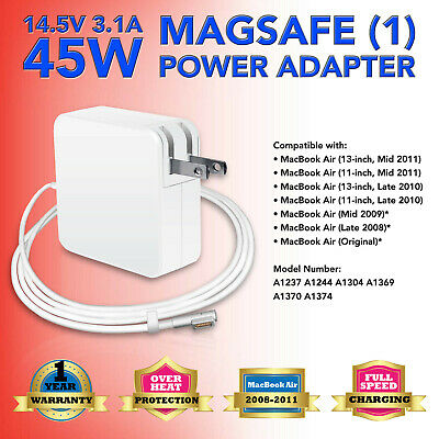 """45W Power Supply Charger Adapter for Apple Macbook Air 11"""" 13"""" A1237 A1369 A1304"""