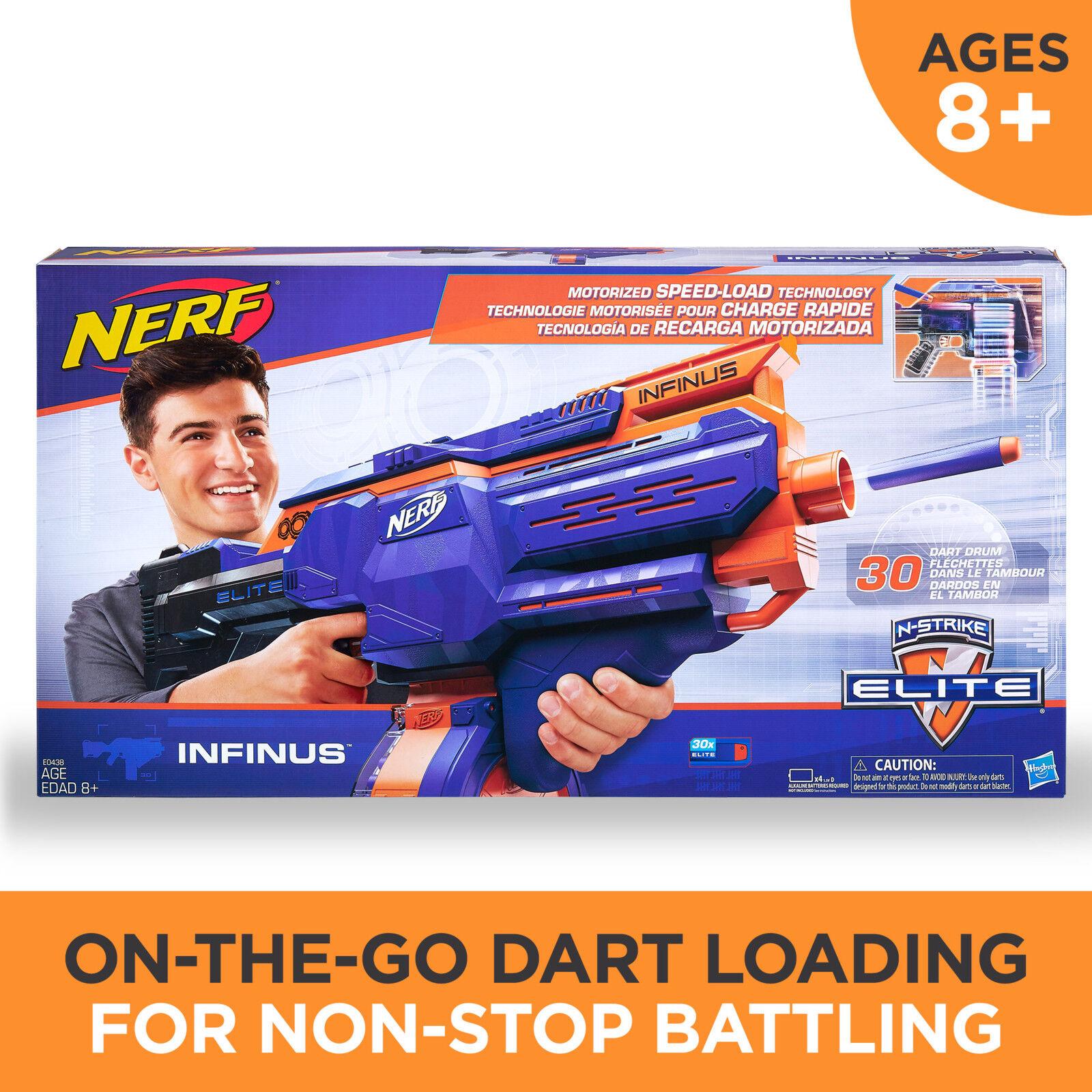 Nerf-N strike Elite Infinus Boys Girls Kids Toy Gun 30 Rapid
