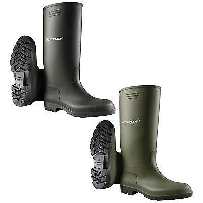 Dunlop Gummistiefel Pricemastor Gummischuhe Arbeitsstiefel Schwarz Grün Stiefel