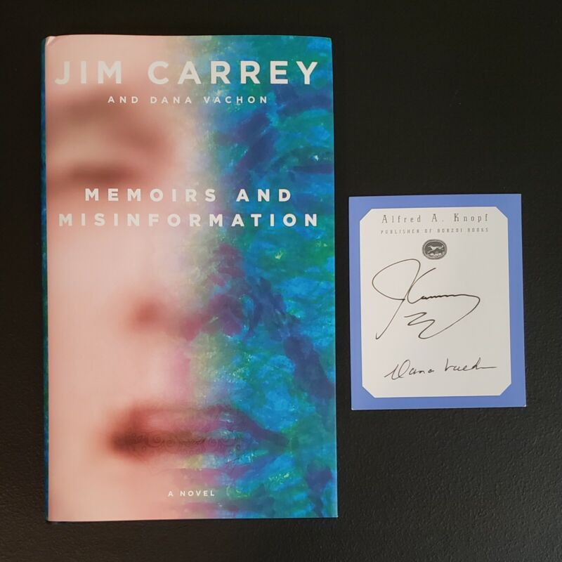 Jim Carrey Signed Memoirs and Misinformation Book Hardcover HC Autograph 1st Ed.