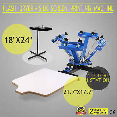 Silk Screen Printing Machine Flash Dryer 4-1 Heating 4 Color Electrical Great